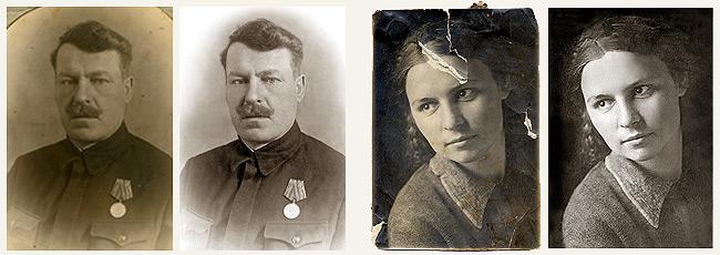 Реставрация ретушь старых фото