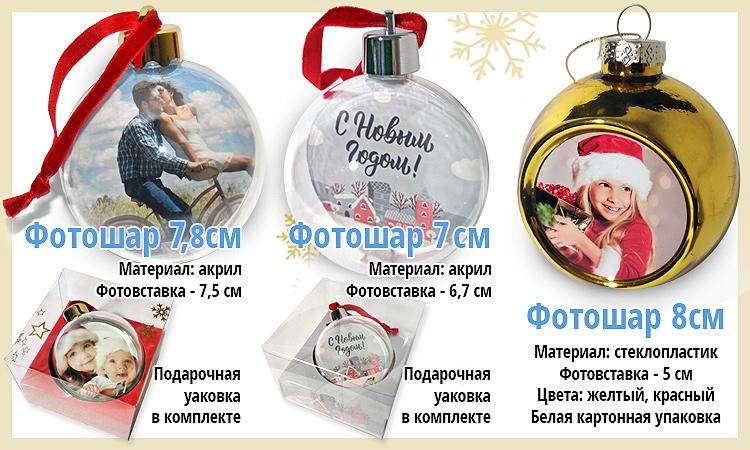 Новогодний подарок с фото. Краснодар. Елочный шар с фотогравией. Заказ