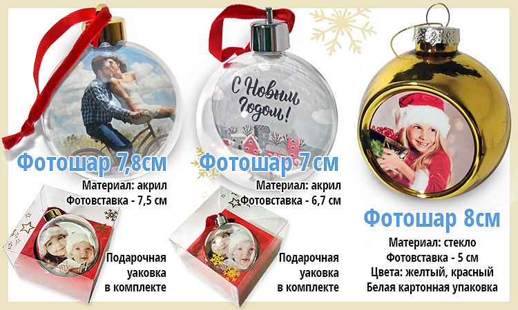 Новогодний подарок с фото. Краснодар. Елочный шар с фотографией. Заказ