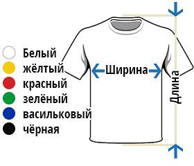Цветные футболки из хлопка Краснодар