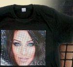 Фото на футболках из хлопка. Плёнка Metallic film